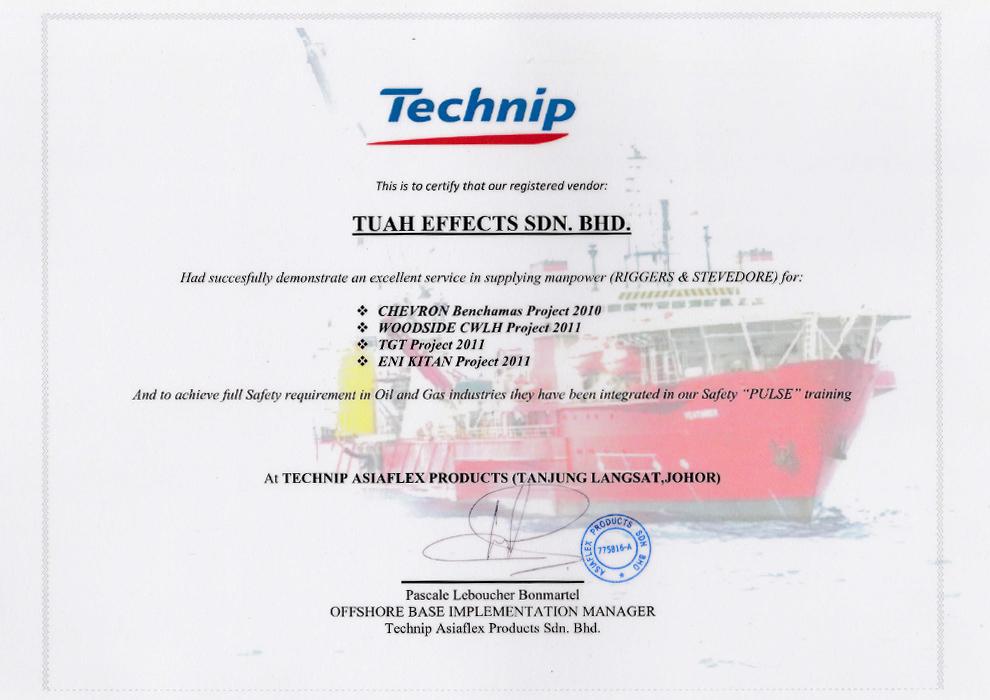 App Technip Cert