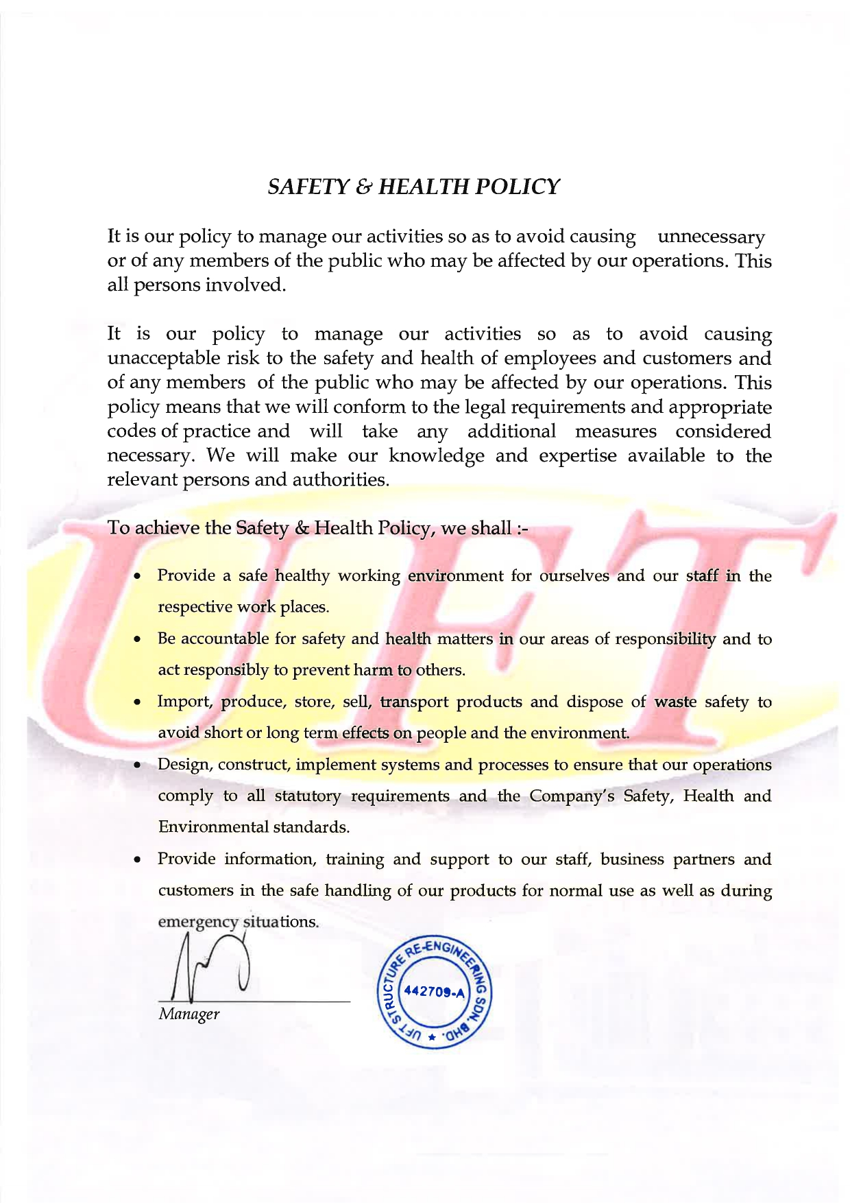 SAFETY & HEALTH POLICY 2021_page-0001
